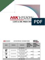 LISTA DE PRECIO HIKVISION JUNIO