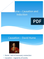 Hume causation and Induction