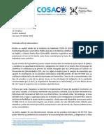 2020_05_26 Carta Gobernadora WVG y FAQ