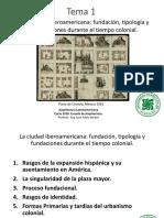 Tema 1_La Ciudad Iberoamericana- Fundación, Tipología y Fundaciones Durante El Tiempo Colonial (1)