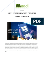 Application Development Cost in India