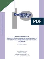 Secreto empresarial - Concepto y fallas ante la SIC (Andes)