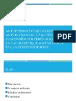 Antihyperglycémie et effet antioxydant de la rutine