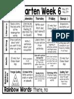week 6 lesson plan