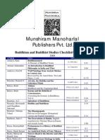 Buddhism Checklist 2008