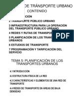 Tema 5 Planificación de los Transportes Urbanos