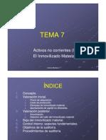 Tema 7 Activos no corrientes (I) I.M.
