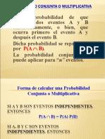 forma de calculas una probabilidad conjunta
