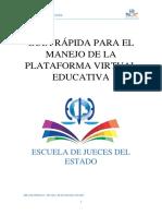 DOCUMENTO DE ESTUDIO - Guia rapida para el manejo de la Plataforma Virtual Educativa