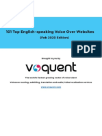 Voquent - Top 101 English Voice Over website Guide