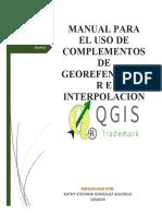 Manual para el uso de elementos de georeferenciación e interpolación