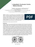 Iris Diagnosis – A Quantitative Non-Invasive Tool forDiabetes Detection