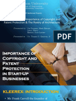 Case Study 1- The Importance of Copyright and Patent Protection & the Poetry of Architecture