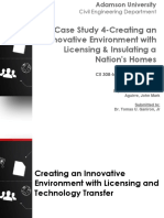 Case Study 4-Creating an Innovative Environment With Licensing & Insulating a Nation's Homes
