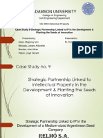Case Study 9-Strategic Partnership Linked to IP in the Development & Planting the Seeds of Innovation