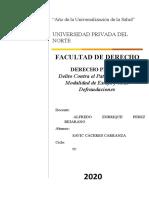 4SAVIC CACERES CARRANZA - Penal 2 Delito Contra el Patrimonio en su Modalidad de Estafa y otras Defraudaciones.docx