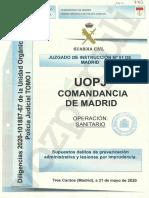 Informe de la Guardia Civil sobre la relación entre la manifestación del 8-M en Madrid y la propagación del coronavirus