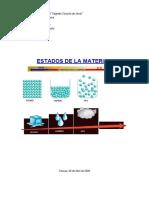 trabajo de quimica 5 ESTADOS DE LA MATERIA