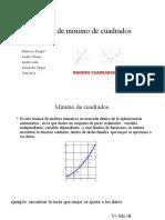 Método de mínimo de cuadrados