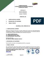 acta INVIMA disposiciones medicas #  9 Octubre 17 de 2012