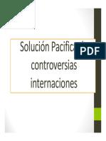 Solución Pacifica de controversias internaciones
