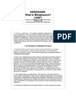 HEIDEGGER What is Metaphysics