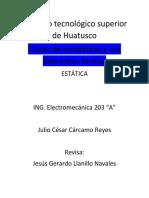 Julio César Cárcamo Reyes, Ensayo estatica.