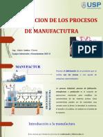 Sesión 01 - Clasificación de Procesos de Manufactura