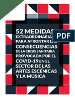52 Medidas Covid Artes Escenicas Y Musica