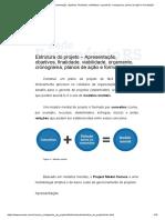 Estrutura do projeto – Apresentação, objetivos, finalidade, viabilidade, orçamento, cronograma, planos de ação e formatação.pdf