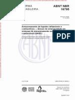 NBR16795 - ARMAZENAMENTO DE LIQUIDOS INFLEMÁVEIS E COMBUSTIVEIS - ENSAIO DE ESTANQUEIDADE EM SASC