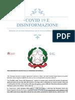 COVID19EDISINFORMAZIONE