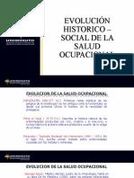 CLASE 1 EVOLUCIÓN HISTORICO-SOCIAL SALUD OCUPACIONAL lejislacion