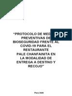 PROTOCOLO PARA LA PREVENCIÓN Y MONITOREO ANTE EL CORONAVIRUS