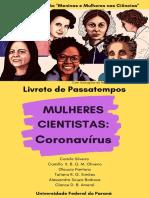 Livreto_Passatempos_Mulheres nas Ciências_Coronavírus