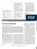 4D Electron Tomography Science