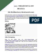 The History of Brazilian Heavy - Thrash Metal