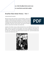 The History of the Brazilian black metal scene