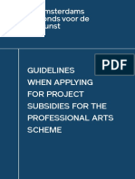 Afk Guidelines When Applying for Project Subsidies for the Professional Arts Scheme