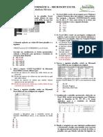Simulado - Excel  2016