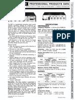 Shure m67 Service Manual