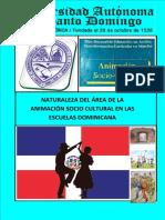 Naturaleza del Área de La Animación Socio Cultural en Las Escuelas Dominicana