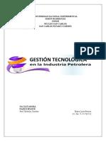 GESTIÓN TECNOLÓGICA EN LA INDUSTRIA PETROLERA (MARÍA PEREIRA-UNESR) (Autoguardado)