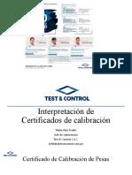INTERPRETACION DE CERTIFICADO DE CALIBRACION