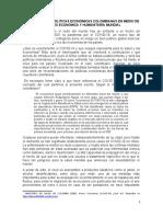 1FEFICACIA DE LAS POLÍTICAS ECONÓMICAS COLOMBIANAS EN MEDIO DE LA CRISIS ECONÓMICA Y HUMANITARIA MUNDIAL laura y deifer (1)