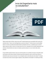 Quais são os Livros de Engenharia mais procurados pelos estudantes?