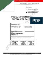 pantalla  N156BGA-EB2 (220nits.)ver 3.0 for HP