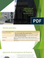 Aplicación de interruptores, recloser y seccionadores.pptx