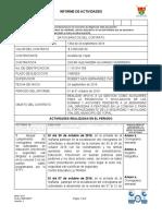 INFORME DE MES DE OCTUBRE DEL 01 AL 31 DE 2019