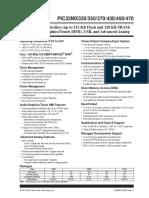 PIC32MX470 family datasheet - 60001185G
